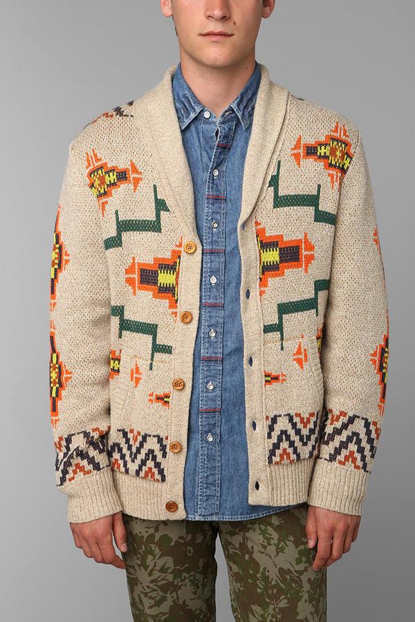 Urban Outfitters Koto Shawl Pattern Cardigan