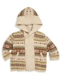 Ralph Lauren Babys Hooded Fair Isle Wool Sweater