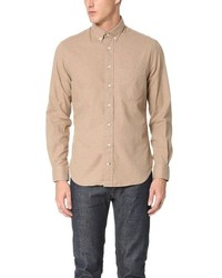 Tan Flannel Long Sleeve Shirt