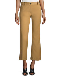 Opening Ceremony Loren Flare Leg Cropped Pants Camel