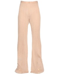 Plisse flared silk crepon pants medium 3641550