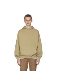 Essentials Beige Fleece Hoodie