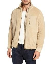 Tan Fleece Zip Sweater