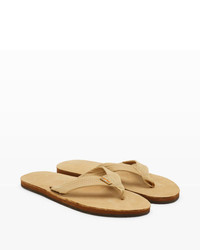 Club Monaco Rainbow Leather Flip Flop