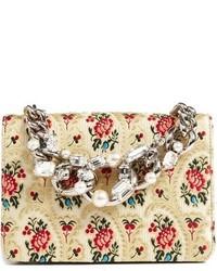 Miu Miu Evening Floral Mogador Shoulder Bag Ivory