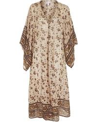 Topshop Longline Floral Print Kimono