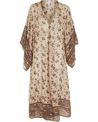 Longline floral print kimono medium 315199