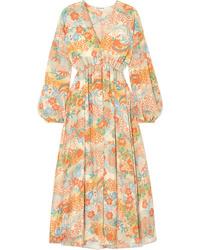 Elizabeth and James Norma Printed Silk Maxi Dress