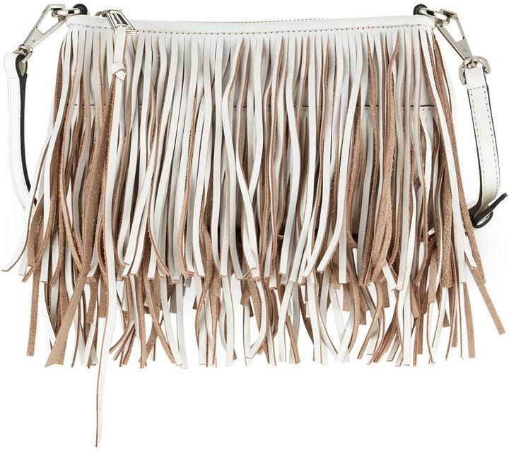 9419ab2e9 Rebecca Minkoff Finn Leather Fringe Crossbody Bag White, $195 ...