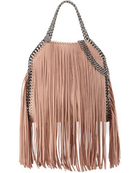 Stella McCartney Falabella Mini Fringe Tote Bag Powder