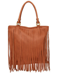 Persaman New York Verona Fringe Leather Tote