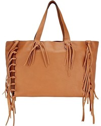 Valentino C Rockee Fringed Tote Brown