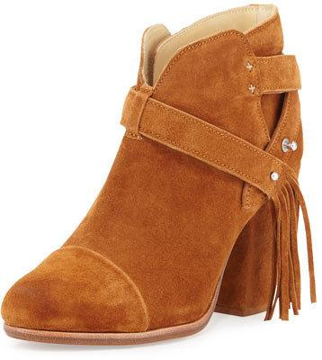 classic fit exclusive shoes super cute $525, Rag & Bone Harrow Fringe Suede Ankle Boot Tan