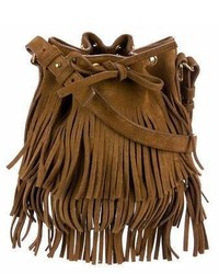 Saint Laurent Small Emmanuelle Fringe Bucket Bag