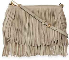 ef273cd87 Rebecca Minkoff Finn Fringe Suede Crossbody Bag Khaki, $195   Neiman ...