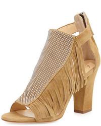 Studded fringe mid heel sandal falasco medium 647941