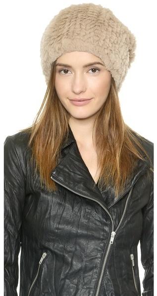 ... Adrienne Landau Knit Fur Hat ... 5edc7c6b75d