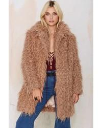 Factory Super Trash Orson Faux Fur Coat