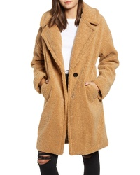 Kendall & Kylie Faux Fur Teddy Coat