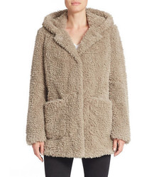 Kenneth Cole New York Hooded Faux Fur Coat