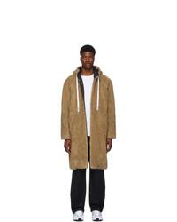 MSGM Tan Teddy Coat