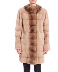 The fur salon mink sable fur coat medium 401532
