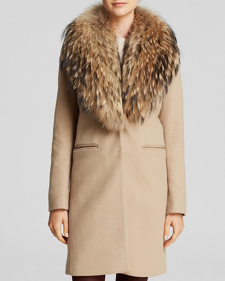 SAM. Crosby Wool Coat With Fur Trim | Where to buy & how to wear