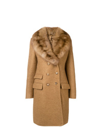 Ermanno Scervino Double Breasted Fur Coat