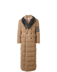 Thom Browne Down D Camel Hair Chesterfield Overcoat