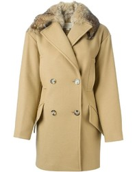 MICHAEL Michael Kors Michl Michl Kors Faux Fur Collar Short Coat