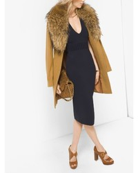 Michael Kors Michl Kors Fur Trimmed Wool And Cashmere Coat