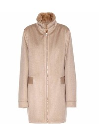 Loro Piana Shane Cashmere Coat With Mink Fur Collar