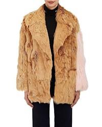 Calvin Klein 205w39nyc Colorblocked Suri Alpaca Fur Coat