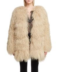 Saint Laurent Genuine Mongolian Goat Fur Jacket