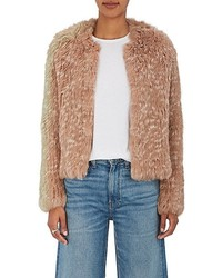 Iris rabbit fur crop jacket medium 6718506