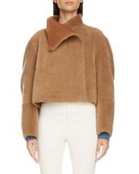 Isabel Marant Reversible Genuine Shearling Crop Coat