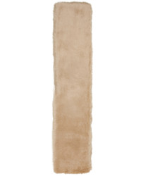 Carven Beige Faux Fur Scarf
