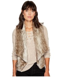 BB Dakota Jack By Dwight Faux Fur Fold Over Collar Vest Vest
