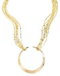 Lana Nude Geo Hoop Pendant Necklace