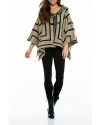 Elan geometric sweater poncho medium 436685