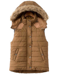 Detachable Hoodied Camel Vest
