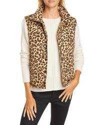 Veronica Beard Leopard Print Puffer Vest