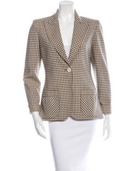 Valentino Gingham Virgin Wool Blazer