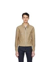 Tom Ford Beige Brushed Cotton Jacket