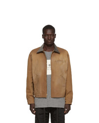 Fear Of God Brown Canvas Work Jacket