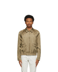 Saint Laurent Khaki Teddy Raglan Jacket