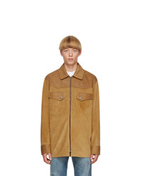 Acne Studios Tan Suede Zip Jacket