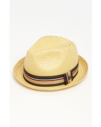 Castor straw fedora beige medium 36396