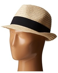 San Diego Hat Company Ubf1018 Solid Paper Braid Fedora With Ribbon Trim Fedora Hats