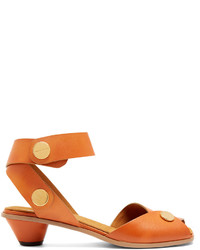 Stella McCartney Collection Cone Heel Faux Leather Sandals